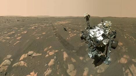 Mars rover_helicopter_selfie